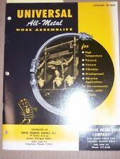 Vtg Universal Metal Hose Co Catalog~Asbestos~Conduit