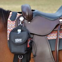CASHEL Horse Saddlebag Day Bag Black saddle bag water bottle holder