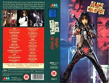 (VHS) Alice Cooper - Trashes The World - School's Out, Under My Wheels, u.a.