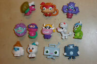12x COOL MOSHI MONSTERS FIGURES ORIGINAL 5x 2011 SERIES 1 2x 2012 & 5x UNMARKED