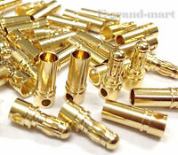3.5mm Gold Bullet Connector Battery ESC Plug (Pack of 50 Pairs)