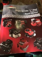"""Briggs & Stratton Single Cylinder """"L"""" Head Repair Manual 270962 Built After 1981"""