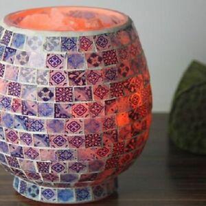 Himalayan Natural Rock Porcelain Mosaic Salt Lamp