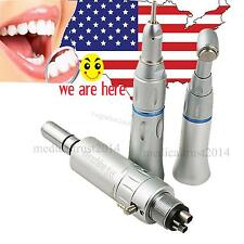 USA Straight Nose Cone Contra Angle air motor 4 Hole Low speed Dental Handpiece