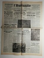 N396 La Une Du Journal L'humanité 15 mai 1948 la laïcité l'emporte