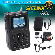 2017 Version Satlink WS-6906 DVB-S FTA Digital Satellite Meter Signal Finder
