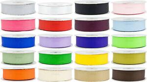Ripsband 6/12/25mm 22m Dekoband Zierband Stoffband Borte Deko Band 20 Farben