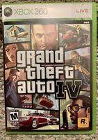 XBOX 360 2008 Grand Theft Auto IV GTA 4 Game Case, Manual & Disc