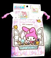 New SANRIO My Melody Cute Drawstring mini Bag Pouch flower gift present