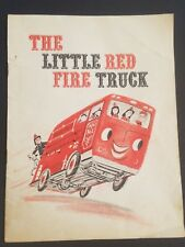"""Vtg Mcneil Laboratories """"The Little Red Fire Truck"""" Story Booklet Washington PA"""