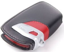 BMW F01 F02 F06 F07 F10 F11 F12 F13 LEATHER CASE KEY FOB COVER HOLDER BLACK RED