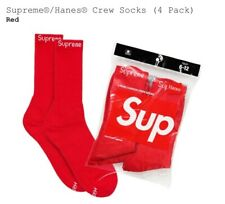 Supreme x Hanes Crew Socks Red (Single Pair) NEW 100% Authentic