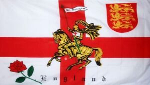 England English Flag 3ft x 2ft Charger 3 Lions Supporters St George Cross Flags