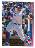 ANTHONY RIZZO 2020 TOPPS MINI PINK PARALLEL #21/25 CHICAGO CUBS #51