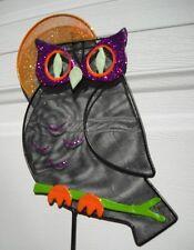 Fall Owl Owls Halloween Harvest Moon Yard Lawn Outdoor Glow in Dark Stake