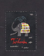 Ancienne vignette étiquette timbre Danemark BN34192 Eléphant
