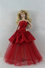 Fashion Handmade Princess Dress Wedding Clothes Gown for Barbie Doll b34