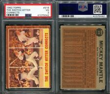 1962 TOPPS #318 MICKEY MANTLE THE SWITCH HITTER CONNECTS PSA 3 (5042)