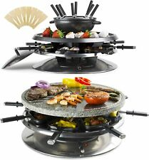 ANDREW JAMES 2-IN-1 RACLETTE AND FONDUE WITH STONE PLATE