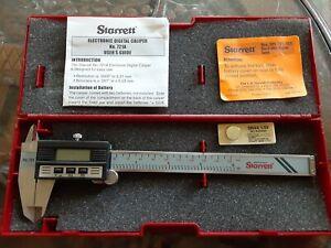 "Starrett Caliper 721A Brand New Never Used 0-6"""