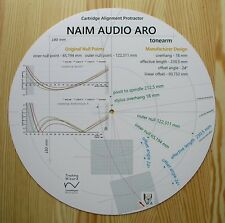 Naim ARO Custom Designed Tonearm Cartridge Stylus Alignment Protractor