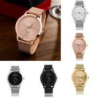 Fashion Stainless Steel Analog Quartz Wrist Watches Men Women Bracelet  Watch