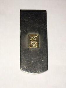 Money Clip With 14k Gold .5 Gram Bar Inside