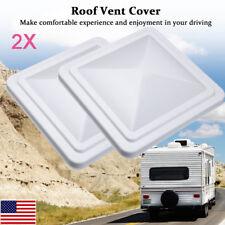 "2X 14""x14"" Universal Trailer RV Roof Vent Cover Camper Trailer Motorhome Fan Lid"
