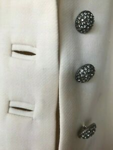 Arrive in style - Silk lined DAKS Cream Coat - stunning buttons! Size 12
