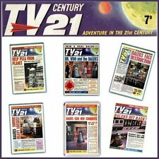 SET OF 6 -TV21 COMIC COVERS with Doctor Who & the Daleks - JUMBO FRIDGE MAGNETS