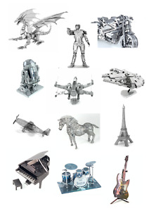 3D Metal Puzzles Laser Cut DIY Model Kit Jigsaw Gift AU