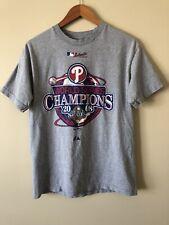 Philadelphia Phillies 2008 World Series Champions Majestic T Shirt Medium