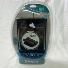 New Psyclone Charge Station For WII W/ 2 Batteries Black NIB