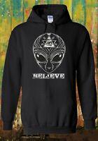 UFO Alien Believe Space Illuminati Men Women Unisex Top Sweatshirt Hoodie 1601