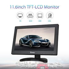 "12"" Inch 1366x768 TFT LCD Color Monitor BNC HDMI VGA AV For DSLR PC CCTV DVD"