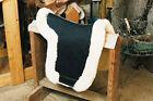 Sheepskin Dressage Numnah Saddle Pad Lined W/Full Rolled Edge - 3 Colors