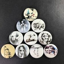 "Scary Stories to Tell in the Dark 1"" Button Pin Set Horror Scary Book Drawings"