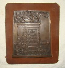 Antique Jewish Judaica Horovitz Frankfurt 1900s Bronze Alte Oper Plaque Germany