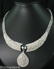 NEW IN !!BRIDAL/WEDDING  Crystal/Diamonte Necklace Set **141** STUNNING