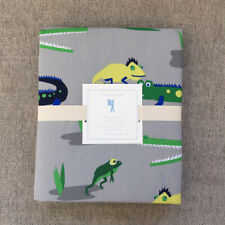 New  Pottery barn kids alligator twin duvet cover only green