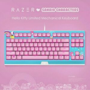 New RAZER x Sanrio Hello Kitty Limited Edition Professional Gaming Keyboard Pink