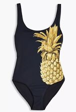 NWT $195 J.Crew Onia Kelly Gold Pineapple One Piece Swimsuit Size Large