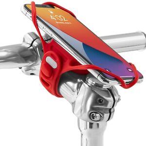 "Bone Original Bike Tie Pro 4 Bike Phone Holder for Stem Mounting 4.7""-7.2""-Red"