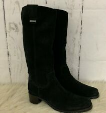 Vic Matie Womens Black Suede Mid Calf Low Heel Pull On Boots Size 40 US 10 Italy