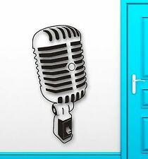 Wall Stickers Vinyl Decal Leading Music Sing Microphone Coolest Decor (ig1498)