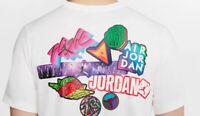 Nike Men's Air Jordan Classics T-Shirt Size Medium White/Multicolor CD5638-010