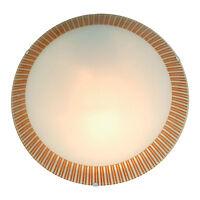 Deckenleuchte Wandleuchte Deckenlampe Wandlampe mit Dekor Glas