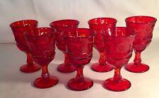 """7 Fostoria Ruby Red Argus 5"""" 4 oz. Wine Stems"""
