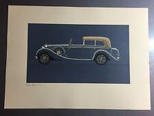 1960 Mercedes-Benz Set of 6 Historical Prints by Walter Gotschke #515 RARE! L@@K