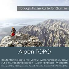 Alpen Topo GPS Karte Garmin DEM 20m Höhelinien 8GB microSD Karte Navi, PC & Mac